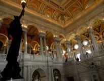 Nacional de Biblioteca do Congresso o interior de grande salão Imagem de Stock Royalty Free
