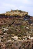 Nacional de la fortaleza en el santo Malo Bretaña Francia Imagen de archivo