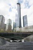 Nacional 9/11 de memorial no ponto zero Imagem de Stock