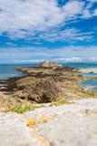 Nacional do forte em Saint Malo, França Fotografia de Stock