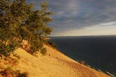 Nacional durmiente de las dunas del oso a orillas del lago imagen de archivo libre de regalías