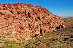 Nacional rojo de la barranca de la roca en Nevada, St unido Foto de archivo libre de regalías