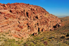 Nacional vermelho da garganta da rocha em Nevada, St unido Foto de Stock Royalty Free