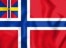 Nacional y comerciante Flag de Noruega 1844-1899 Foto de archivo libre de regalías
