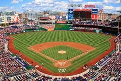 Nacionales de Washington del juego de día del béisbol Imagenes de archivo