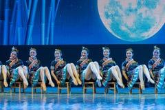 Nacionalidade da água-Tujia do córrego da montanha - dança clássica chinesa Foto de Stock