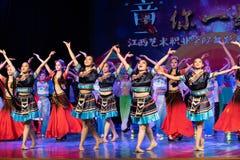 Nacionalidade de ondulação da dança-Tujia Fotografia de Stock Royalty Free