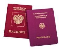Nacionalidade dobro - russo & alemão Foto de Stock