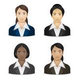 Nacionalidades das mulheres de negócio várias Foto de Stock