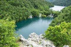 Nacionalni公园Plitvicka jezera,狂放的自然 库存图片
