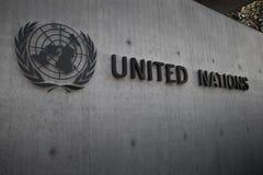 Naciones Unidas Badge en Ginebra Fotografía de archivo libre de regalías