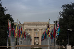 Naciones Unidas en Ginebra Imagen de archivo