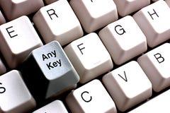 Naciska Jakaś klucz Obrazy Stock