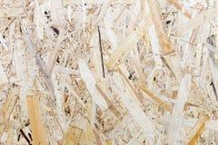 Naciskający drewniany panelu tło, bezszwowa tekstura ukierunkowywająca pasemko deska - OSB drewno Zdjęcia Royalty Free