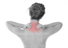 Nackenschmerz Stockfotos