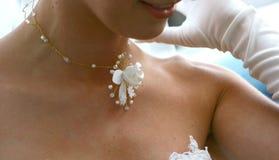 Nacklace de la boda Fotografía de archivo libre de regalías