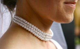 Nacklace di cerimonia nuziale Fotografie Stock Libere da Diritti