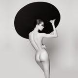 Nackte elegante Frau Stockfotografie