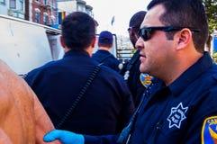 Nackte Protestierender Lizenzfreie Stockbilder