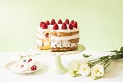 Nackter Kuchen lizenzfreie stockbilder