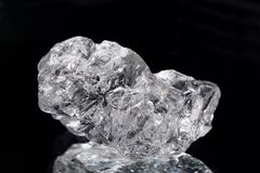 NaCL del cristal de la sal Fotografía de archivo libre de regalías