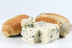 Naco de Herb Cheese e do pão foto de stock