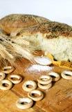 Naco de pão quebrado Fotos de Stock Royalty Free