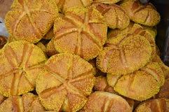 Naco de pão redondo fotografia de stock