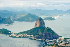 Naco de Suggar de Corcovado - Rio de janeiro, Brasil imagem de stock