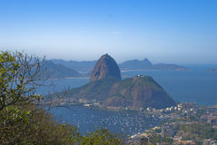 Naco do açúcar - Rio de Janeiro fotos de stock royalty free
