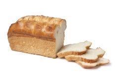 Naco do pão branco com fatias Imagens de Stock Royalty Free