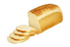 Naco do pão branco cortado Fotos de Stock