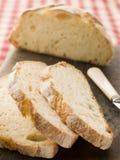 Naco e fatias de pão ácido americano da massa de pão Foto de Stock Royalty Free