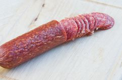 Naco longo a salsicha fumado Imagem de Stock