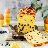 Naco quente do bolo transversal do açafrão da Páscoa Foto de Stock