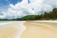 Nacpan海滩(El Nido,菲律宾) 免版税库存图片