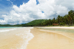 Nacpan Beach (El Nido, Philippines) royalty free stock images