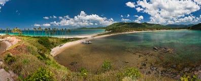 Nacpan-Strand Philippinen Palawan Stockfoto