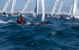 Nacra在赛船会期间的类航行在帕尔马 库存照片