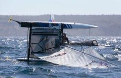 Nacra 17在赛船会期间的类转交在帕尔马 图库摄影