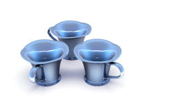 Nacre cups Royalty Free Stock Images