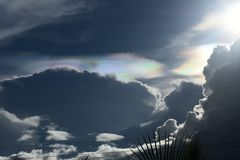 Nacreous clouds showing their beauty royalty free stock photography