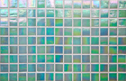Nacreous green mosaic tile Royalty Free Stock Images