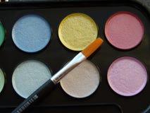 Nacreous målarfärger för vattenfärg Arkivfoto