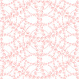 Nacreous Pearl Pink Jewelry Seamless Pattern. Stock Photography