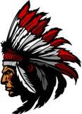 naczelny indyjski loga maskotki wektor Zdjęcia Stock