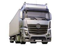 Naczepa ciężarówka odizolowywająca Zdjęcia Royalty Free
