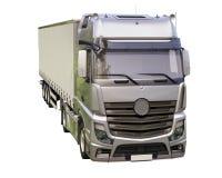 Naczepa ciężarówka odizolowywająca Obrazy Stock