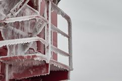 Naczynia ciężki zakrywający z lodem Zdjęcie Royalty Free