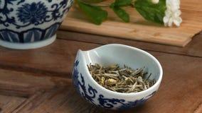 Naczynia dla herbacianej ceremonii Zakończenie stół dla herbacianej ceremonii, naczyń i akcesoriów, Fotografia Royalty Free